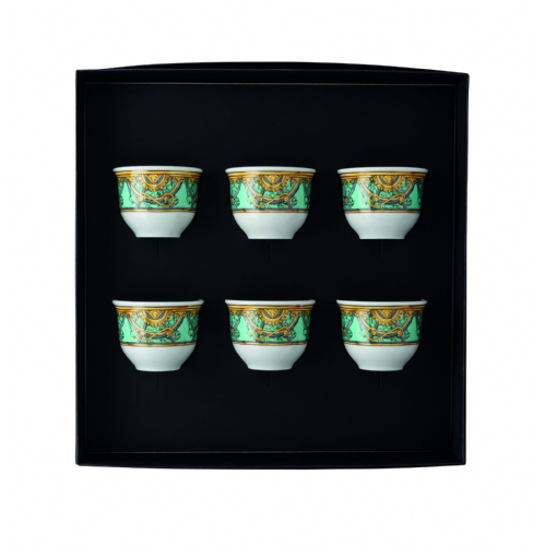 Versace La Scala Del Palazzo Verde 6 cups small  without Handle
